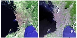 Satellite Images Depict the Growth of Manila between 1989 and 2012